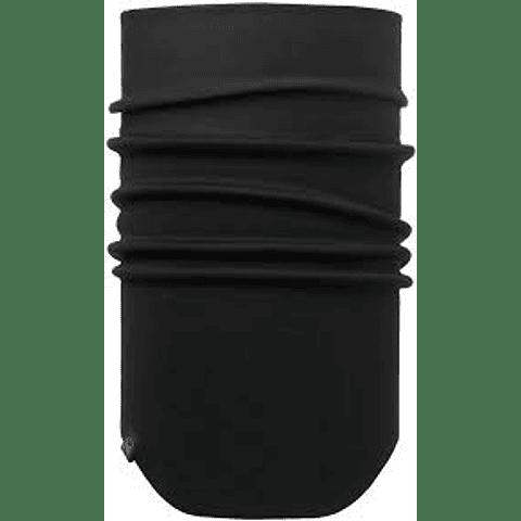 Windproof Neckwarmer Solid Black Buff