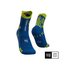 Calcetines de Trail Running Pro Racing Socks v3.0 Blue/Lime - Compressport