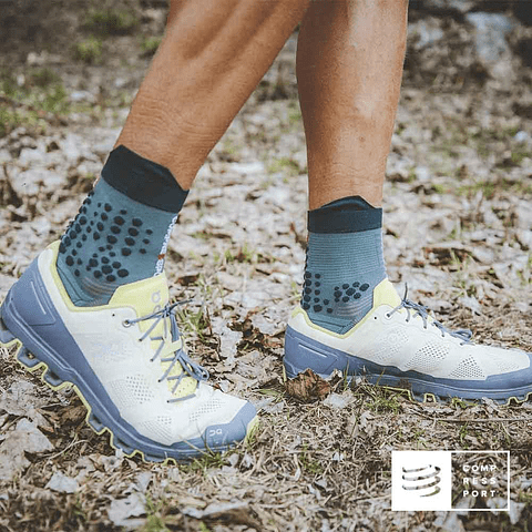 Calcetines de Trail Running v3.0 Silver Pine - Compressport