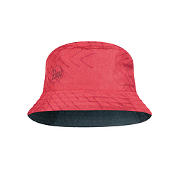 Travel Bucket Hat Collage Red Buff