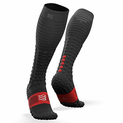 CALCETÍN FULL SOCK RACE & RECOVERY BLACK COMPRESSPORT