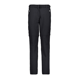 PANTALÓN WOMAN PANT ZIP OFF BLACK CMP