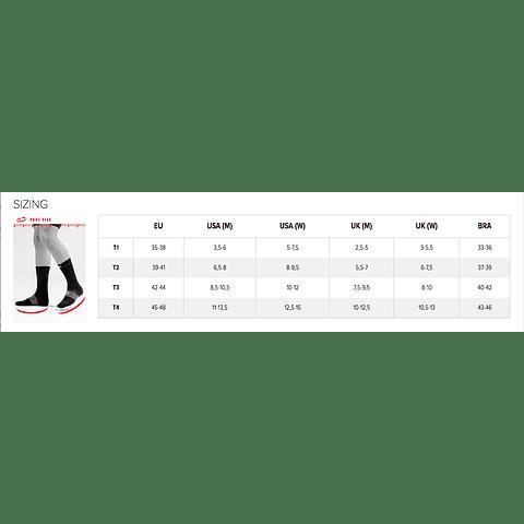 CALCETÍN BIKE V3 BLACK/RED COMPRESSPORT