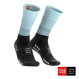 CALCETÍN MID COMPRESSION NEGRO/CALIPSO COMPRESSPORT