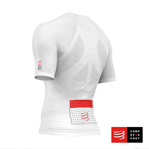 TRAIL RUNNING POSTURAL SS TOP WHITE COMPRESSPORT