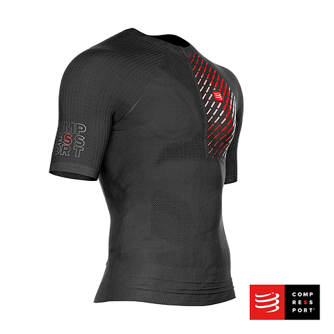 TRAIL RUNNING POSTURAL SS TOP BLACK COMPRESSPORT