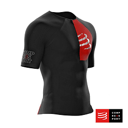 TRIATHLON POSTURAL AERO SS TOP BLACK COMPRESSPORT