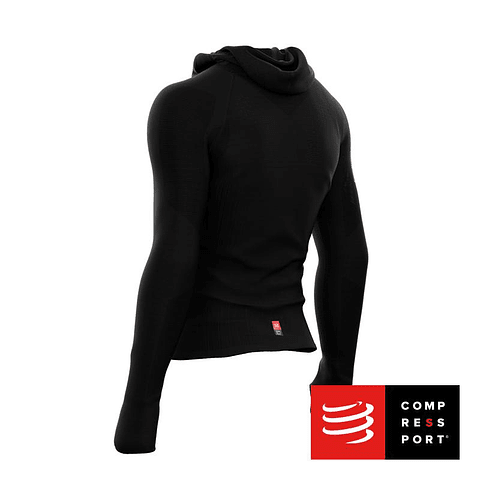 3D THERMO ULTRALIGHT RACING HOODIE BLACK COMPRESSPORT