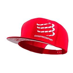 GORRA FLAT CAP RED COMPRESSPORT