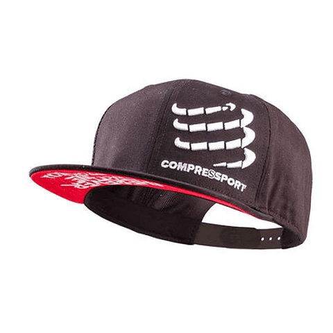 GORRA FLAT CAP BLACK COMPRESSPORT