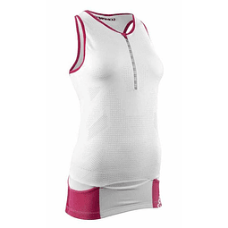 TR3 ULTRA TANK TOP WHITE COMPRESSPORT