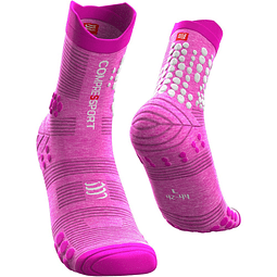 CALCETÍN TRAIL V3 PINK MELANGE COMPRESSPORT