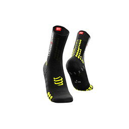 CALCETA BIKE V3 BLACK/YELLOW COMPRESSPORT