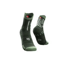 CALCETÍN TRAIL V3 GREEN COMPRESSPORT