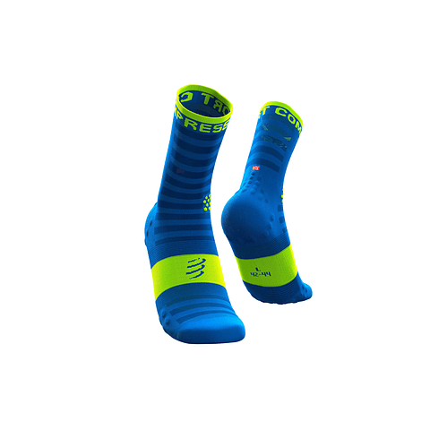 CALCETÍN COMPRESSPORT ULTRALIGHT RUN FLUO/BLUE