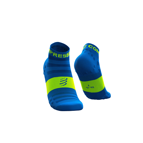 CALCETÍN COMPRESSPORT ULTRALIGHT RUN FLUO/BLUE LO