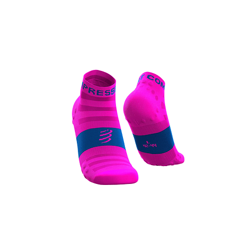 CALCETÍN COMPRESSPORT ULTRALIGHT RUN FLUO/PINK LO