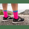 CALCETÍN COMPRESSPORT ULTRALIGHT RUN FLUO/PINK
