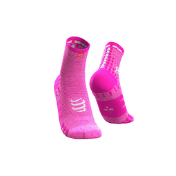 CALCETA RUN V3 PINK COMPRESSPORT HI