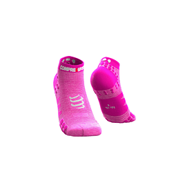 CALCETÍN PRO RACING RUN V3 PINK COMPRESSPORT LOW