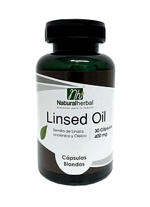 Linsed Oil - 30 Cápsulas 400 mg.