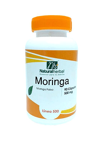 Moringa Natural Herbal - 90 Cápsulas 500 mg.