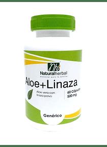 Aloe + Linaza 60 Cápsulas - 500 mg.