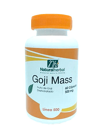 Goji Mass - 60 Cápsulas 500 mg.