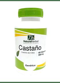Castaño - 60 Cápsulas 500 mg.