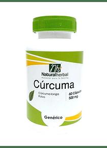 Cúrcuma - 60 Cápsulas 500 mg.