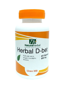 Herbal D-bet 60 Cápsulas - 500 mg.