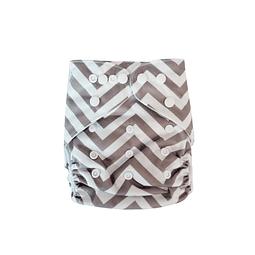 Pañal Suedecloth - Zigzag Gris