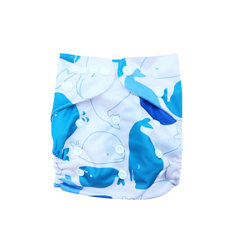 Pañal Suedecloth - Cetáceos