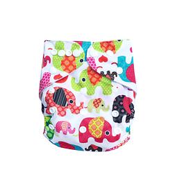 Pañal Suedecloth - Elefantes de colores