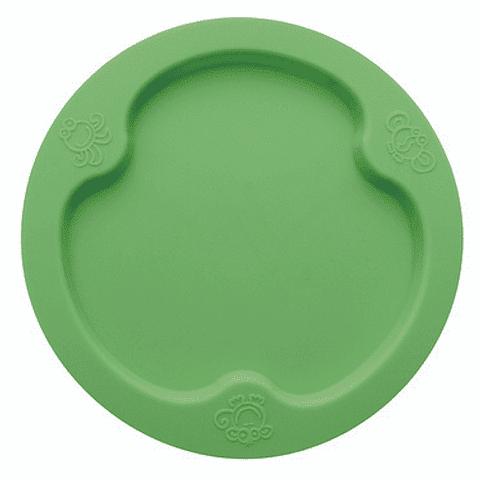 Plato plano verde Silicona Ooga