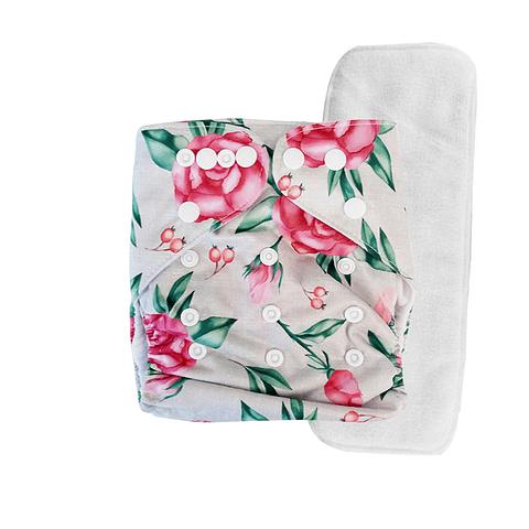 Pañal Suedecloth - Rosas