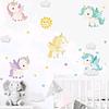 Sticker decoración para habitación unicornios