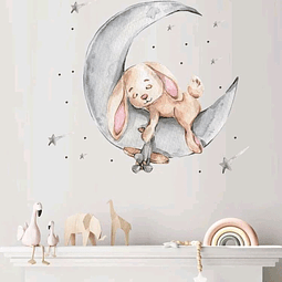 Sticker decoración para habitación conejo