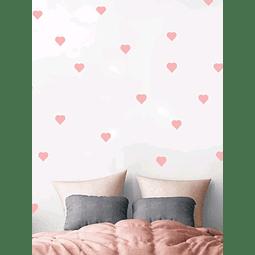 Sticker decoración para habitación corazones