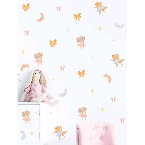 Sticker decoración para habitación bailarinas