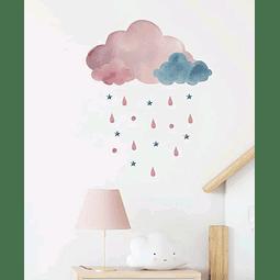 Sticker decoración para habitación nube