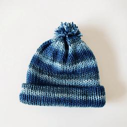 Gorro de lana azulino para bebés y niños