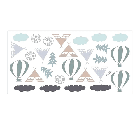 Sticker decoración para habitación carpitas