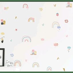 Sticker decoración para habitación arcoiris