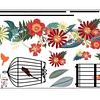 Sticker decoración para habitación pajaritos flores