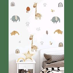 Sticker decoración para habitación amigos de la selva