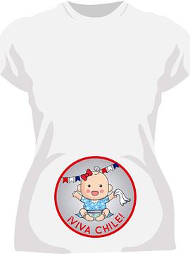 Polera Futura Mamá Niña Viva Chile!