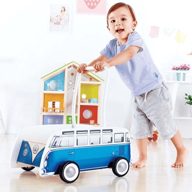 Carro de arrastre con bloques de madera