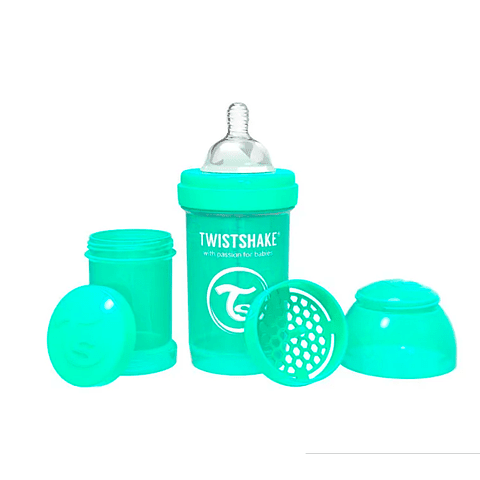 Mamadera Twistshake Anticólicos 180ml Verde