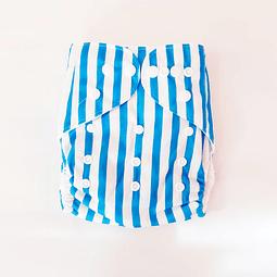 Pañal Suedecloth - Blue Strips
